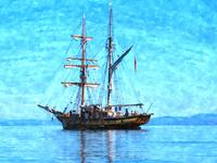 vintage ship seascape nautical art print