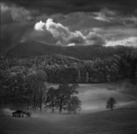 """Old House Captured in Fog"" Crab Tree, NC by Joe Gemignani"