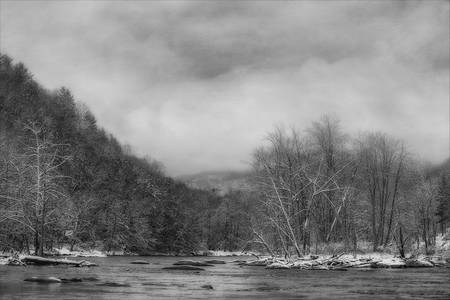 """Panther Creek in Snow"" #3"