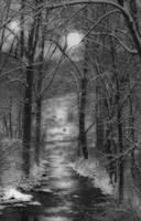 """A Snowy Day at the Creek"" #2 by Joe Gemignani"