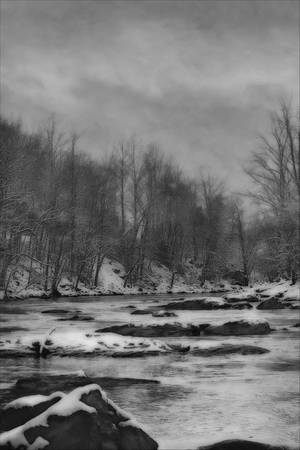 """Panther Creek in Snow"" #1"