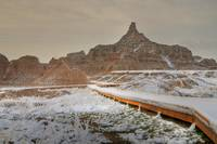 Snowy Peaks in Badlands National Park