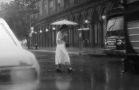 """""""N.Y. Lady Crossing Cooper Square"""""""