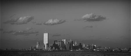 """World Trade Center from Ferry–Wide View"""