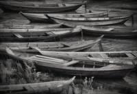 """Boats Waiting"" Santarem, Brazil by Joe Gemignani"
