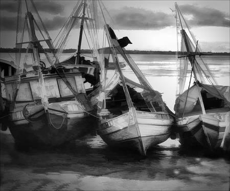 """""""Boats on Drybed"""" Belem, Brazil"""