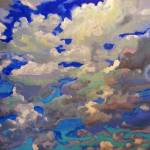 Windy skyscape painting picture by RD Riccoboni