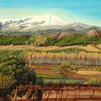 Vineyard Valley In The Sierra Nevada Surroundings Art Prints & Posters by Ángeles M. Pomata