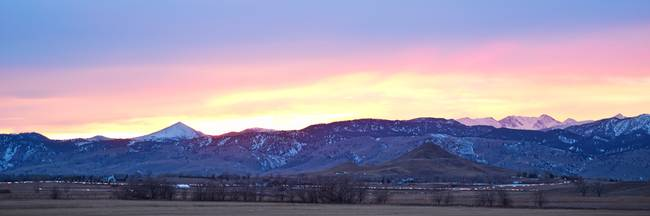Boulder County Haystack Mountain Panorama View