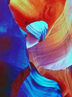 Red And Blue Abstract Swirls