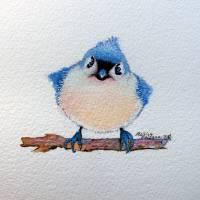 BABY BLUEBIRD 5X5 by Marcia Baldwin