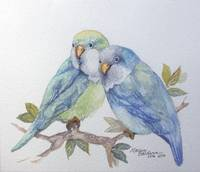 PETE AND REPETE 2 PARAKEETS