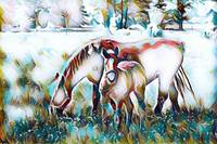 Family - Horse Wildlife Print