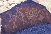 Petroglyphs on Rock