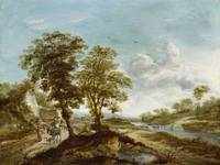 Netherlandish School, 17th century, Landscape with