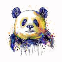 Colorful Panda Head