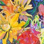 """""""Yellow Red and Orange Happiness Floral Bouquet"""" by RDRiccoboni"""