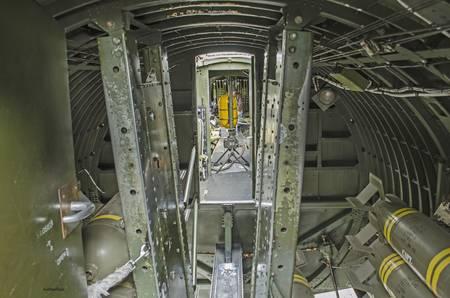 B-17 Interior of Bomb Bay