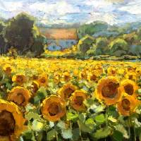 """Kentucky Field of Golden Sunflowers"" by lindseytull"