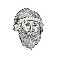 Santa Claus Head Mandala