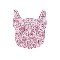 French Bulldog Head Front Mandala