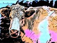 Cow Pop Art Comic