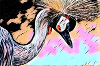 Crane Pop Art Comic