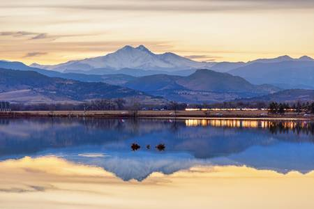 Colorado Twin Peaks Golden Reflections