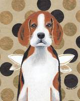 Beagle Angel with Black Circles