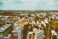 Aerial View Of Bucharest City Skyline