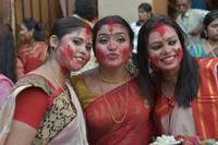 Three Beautiful Bengali Woman durgapuja
