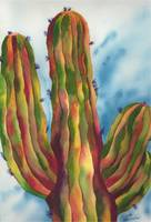 Vivid and Majestic Saguaro Cactus Watercolor Art