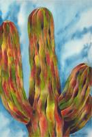 The Grand and Towering Saguaro Cactus Watercolor