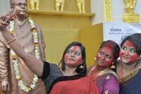 Three Girls Taking Selfie at Durgapuja
