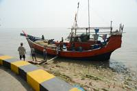 Fishing Boat Parked on Sea