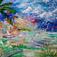 """Light in the Darkest Storm"" by galina"