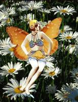 Fairy and Daisies
