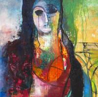 Iranian woman-mixed on canvas 90*90