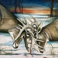 Sunrise Showdown Art Prints & Posters by Cathryn (Reitler) Sugg