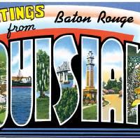 Baton Rouge LA Large Letter Postcard Greetings by ArtLoversOnline
