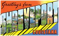 Shreveport LA Large Letter Postcard Greetings