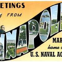 Annapolis MD Large Letter Postcard Greetings by ArtLoversOnline