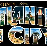 Atlantic City NJ Large Letter Postcard Greetings by ArtLoversOnline