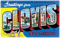 Clovis NM Large Letter Postcard Greetings
