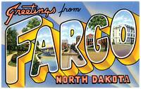 Fargo ND Large Letter Postcard Greetings