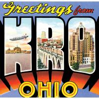 Akron OH Large Letter Postcard Greetings by ArtLoversOnline