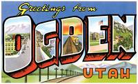 Ogden UT Large Letter Postcard Greetings