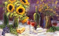 Sunflower Still Life with Wine