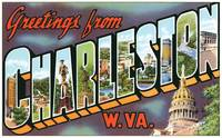 Charleston WV Large Letter Postcard Greetings