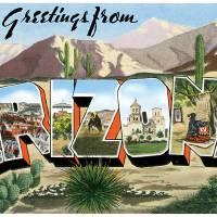 Arizona AZ Large Letter Postcard Greetings by ArtLoversOnline